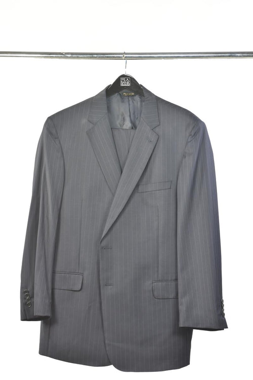 Screenbid Media Company, LLC. - Jos A. Bank Signature Navy Pinstripe 2 Piece Gold Suit
