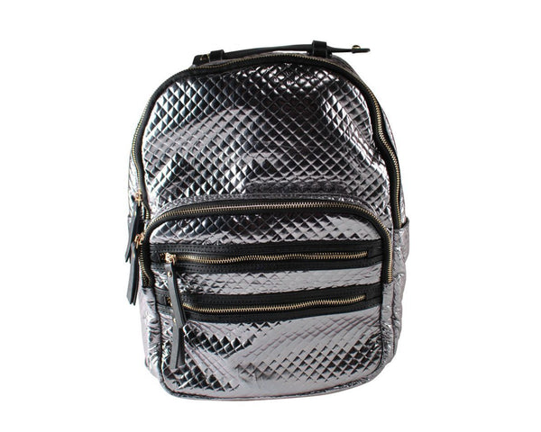 You're The Worst: Nock Nock's Silver Backpack-2