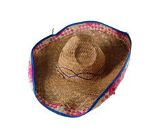 You're The Worst: Blue & Pink Straw Hat