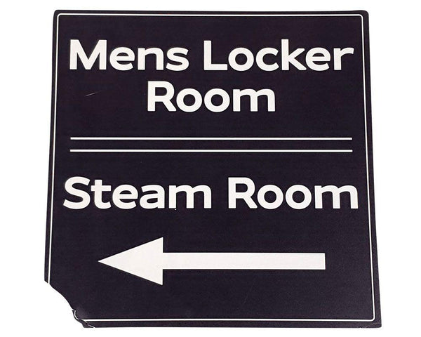 You're The Worst: Mens Locker & Steam Room Signs-1
