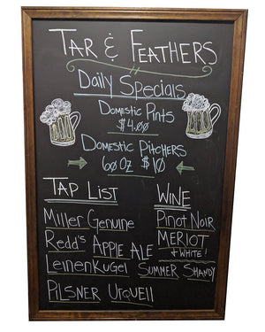 Screenbid Media Company, LLC. - You're The Worst: Tar & Feathers 'Daily Specials' Framed Menu Board