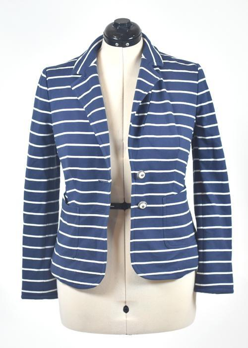 You're The Worst: Blue & White Jacket by Charter Club-3