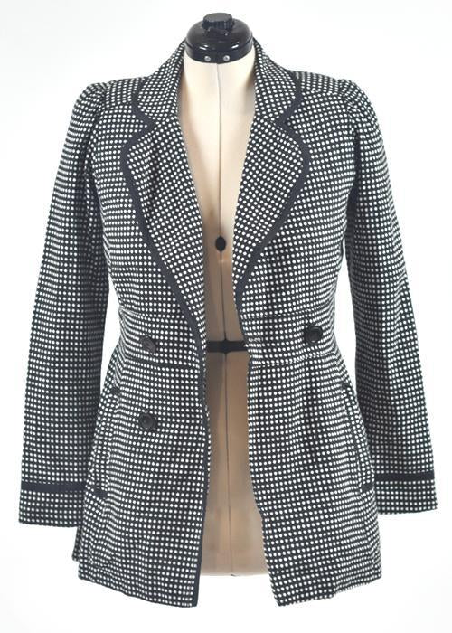 You're The Worst: Black & White Dots Coat by Wrapper-1
