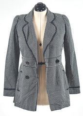 You're The Worst: Black & White Dots Coat by Wrapper