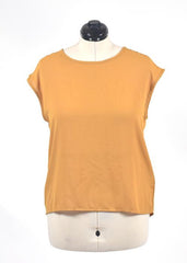 You're The Worst: Pumpkin Color Silk Top by Forever 21