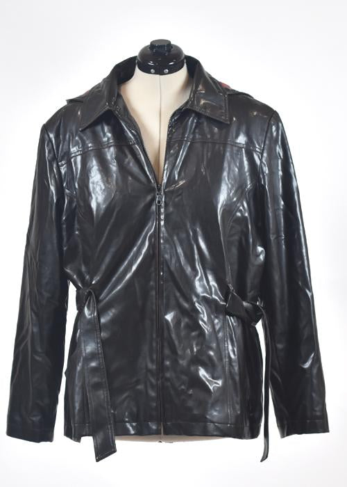 You're The Worst: Faux Leather Raincoat by Giacca-1