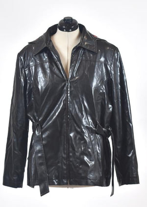 Screenbid Media Company, LLC. - You're The Worst: Faux Leather Raincoat by Giacca