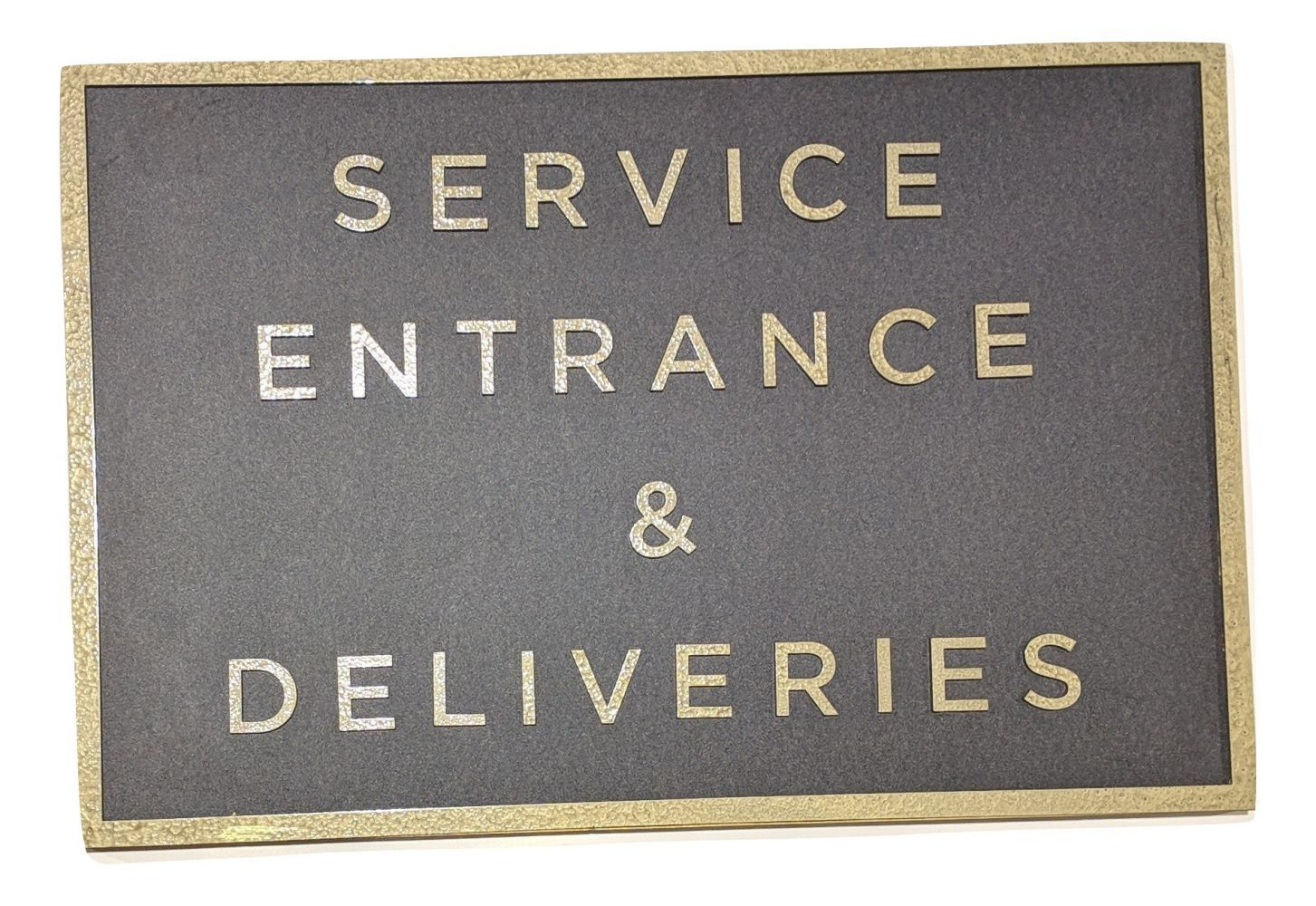 You're The Worst: Service Entrance & Deliveries' Sign