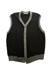 SILICON VALLEY: Jared's Two-toned Grey Sweater Vest