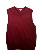 SILICON VALLEY: Jared's Red Merino Wool Sweater Vest