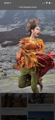 The Tempest: Trinculo's Famous Green & Black Striped Pants, Green & Red Stowe Shirt and Red Dress