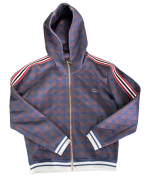 Screenbid Media Company, LLC. - THE GENTLEMEN: Benny's Black & Red Stripe with Purple Plaid LONSDALE Tracksuit