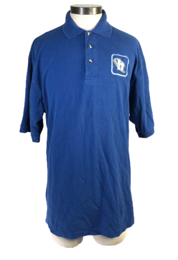 SILICON VALLEY: Blue Hooli Square Polo Shirt-1