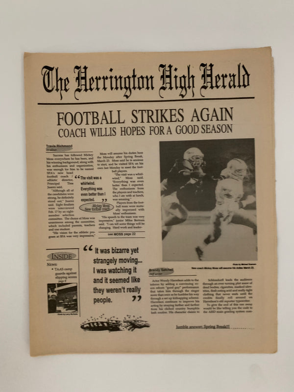 The Faculty: The Harrington High Herald Newspaper-1