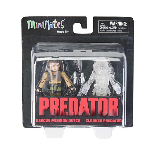 Screenbid Media Company, LLC. - DIAMOND SELECT TOYS Predator 2 Minimates Rescue Mission Dutch & Cloaked Predator Mini Figures