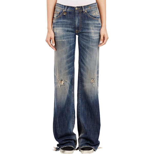 SONS OF ANARCHY: Emma's R13 Distressed Flared Jeans-2