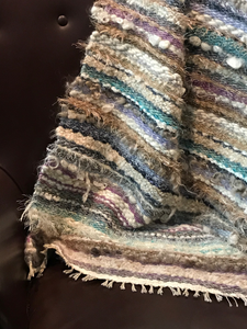 Large, heavy handwoven throw/blanket - handspun  mixed wools