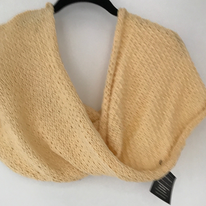 Handknitted cotton blend Infiniti wrap