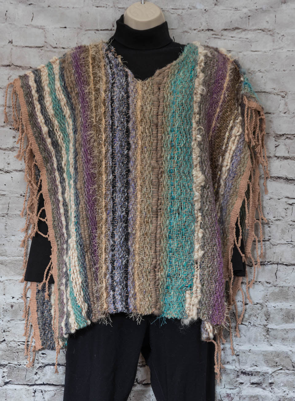 Handwoven Poncho - One Size - Wool