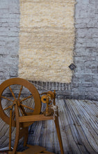 Handwoven North Country Cheviot Wool Felted Rug Cream Color