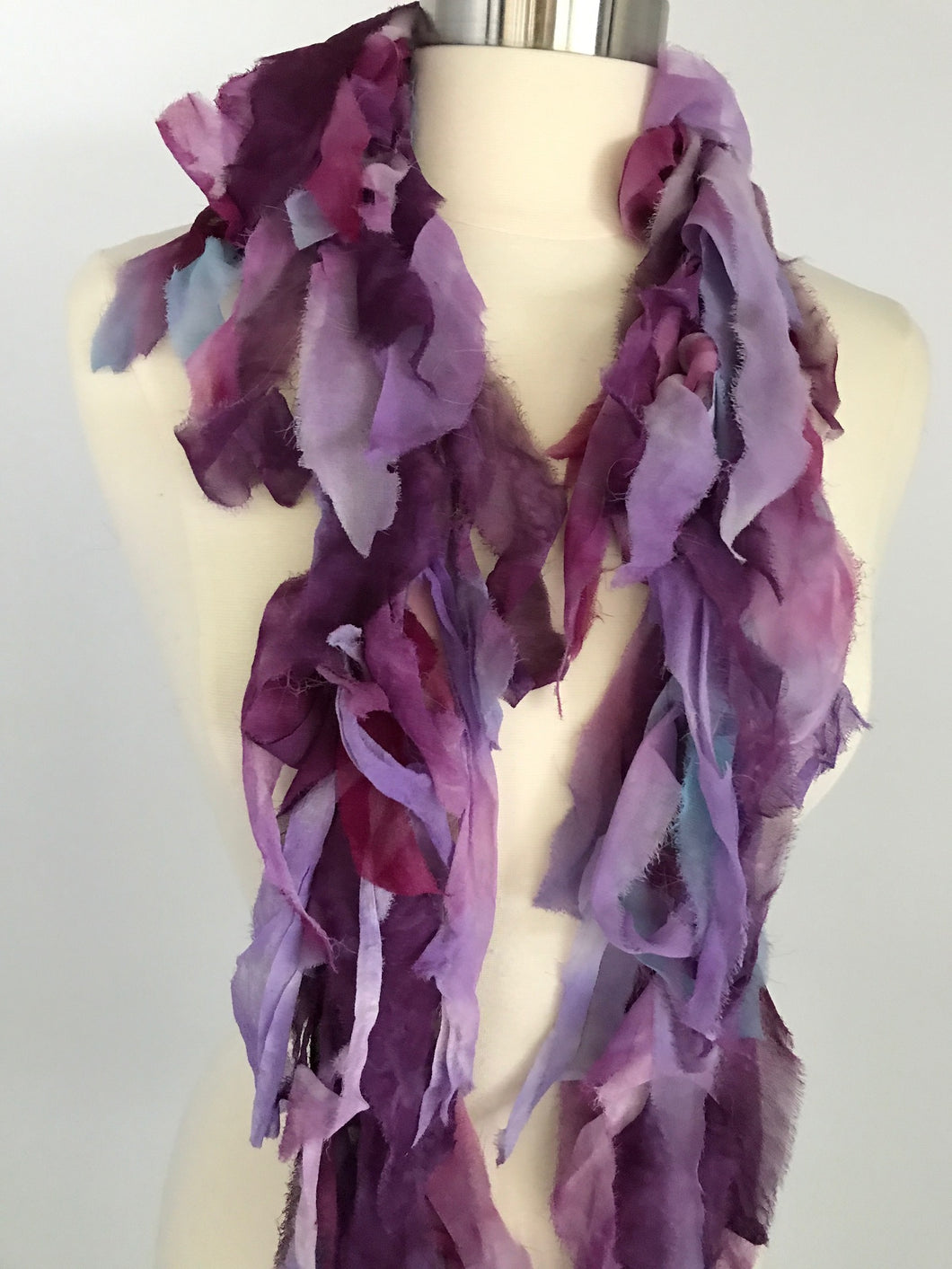Silk chiffon shoulder wrap  purple-lavender