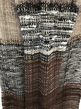 Handwoven Shawl/Throw, Natural color fibers