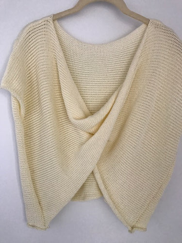 Bamboo Hand Knit Cream Color