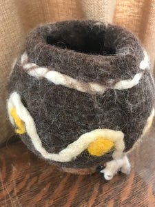 Felted  Vessel - Navajo Churro Wool