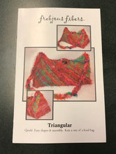 Knitting Kit - Triangular Bag - Handspun Vegan Yarn - Recycled Sari Cotton