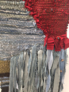 Cottagecore Handwoven Rag Rug - Family History in Textiles - The Story