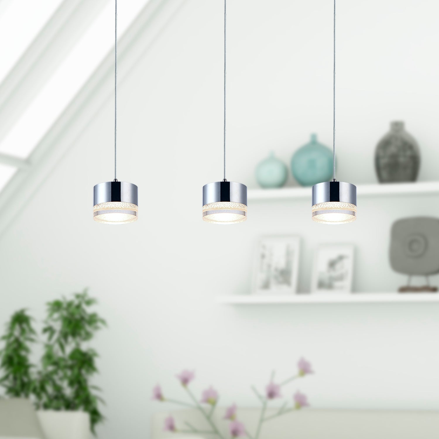 Jupiter 3-light LED mini pendant