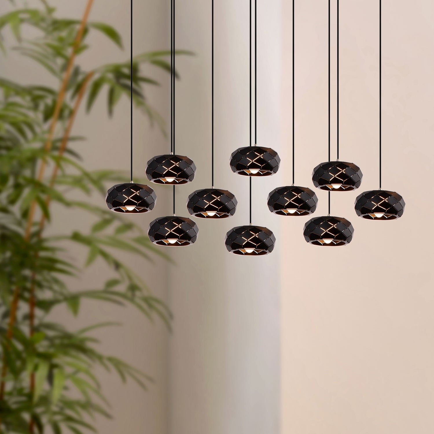 Crust 10-light LED mini pendant