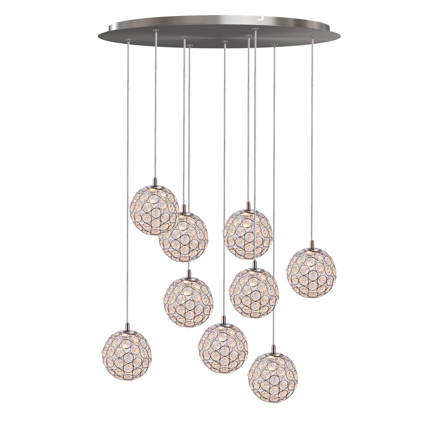 Mars 9-light LED mini pendant