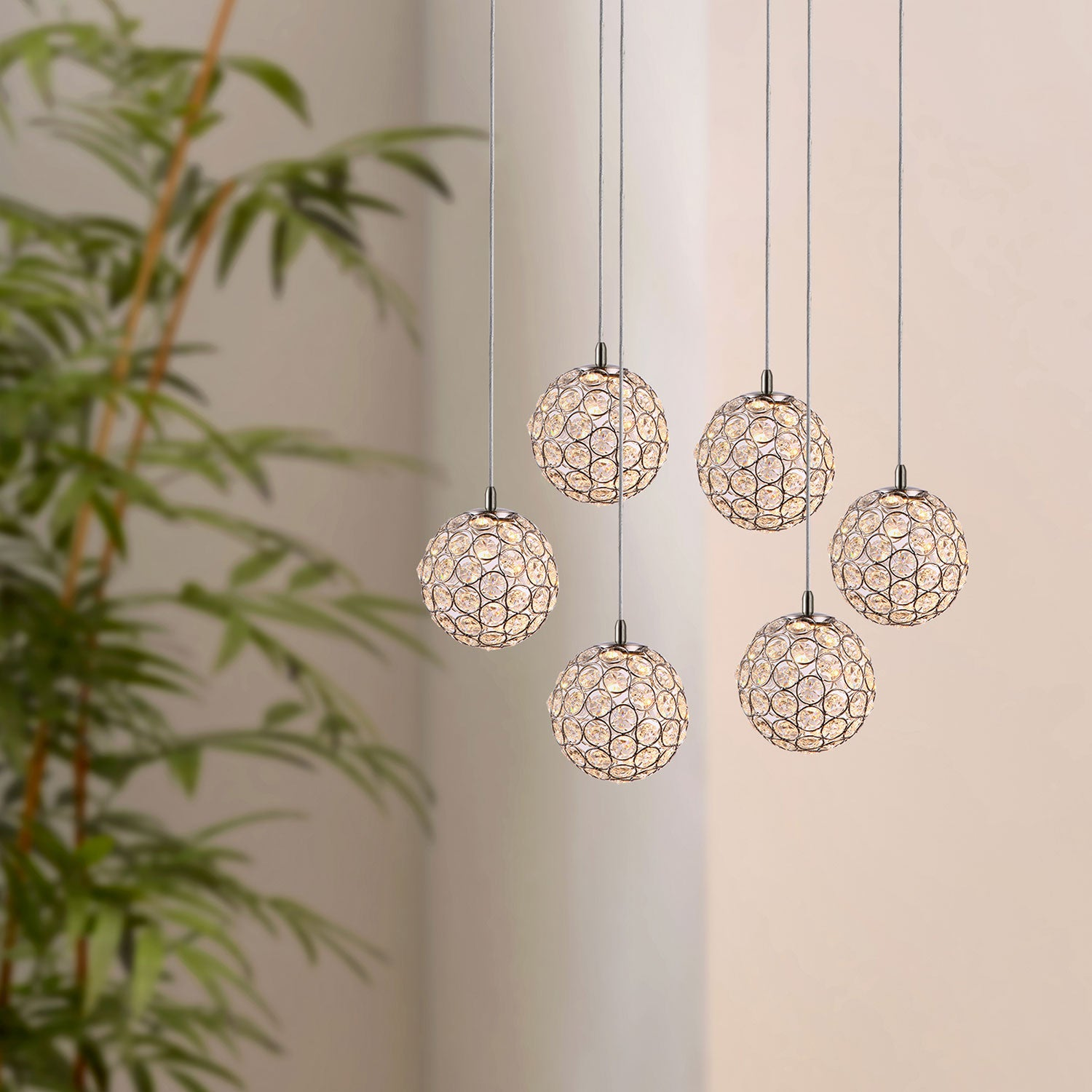 Mars 6-light LED mini pendant