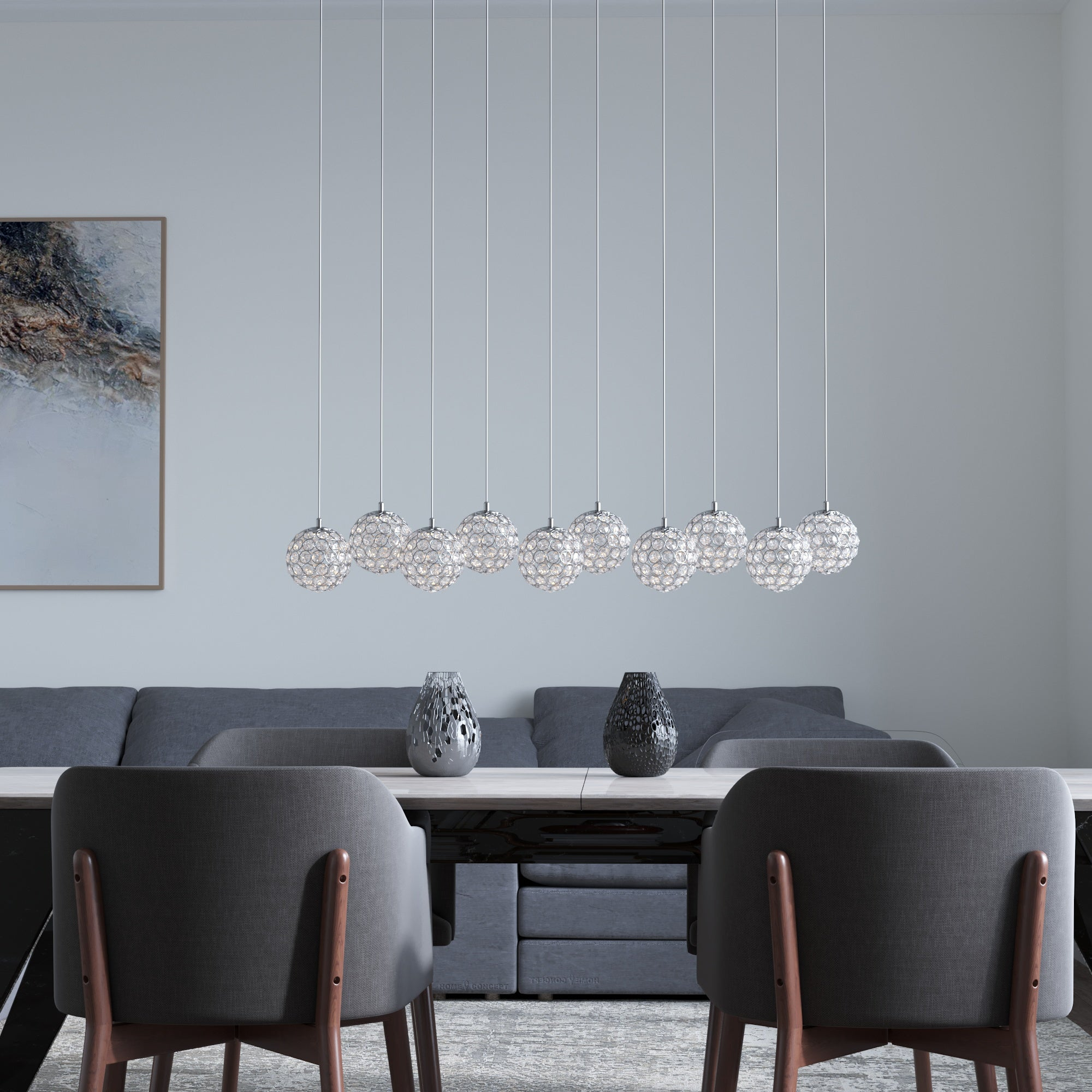 Mars 10-light LED mini pendant