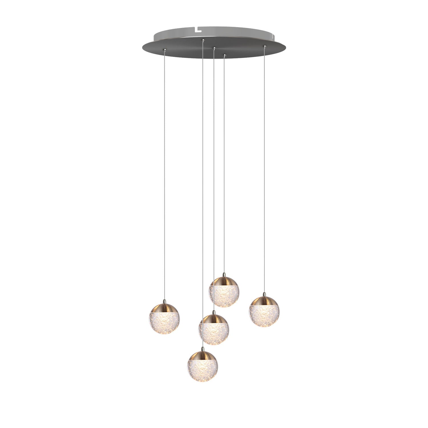 Galaxy 5-light LED mini pendant