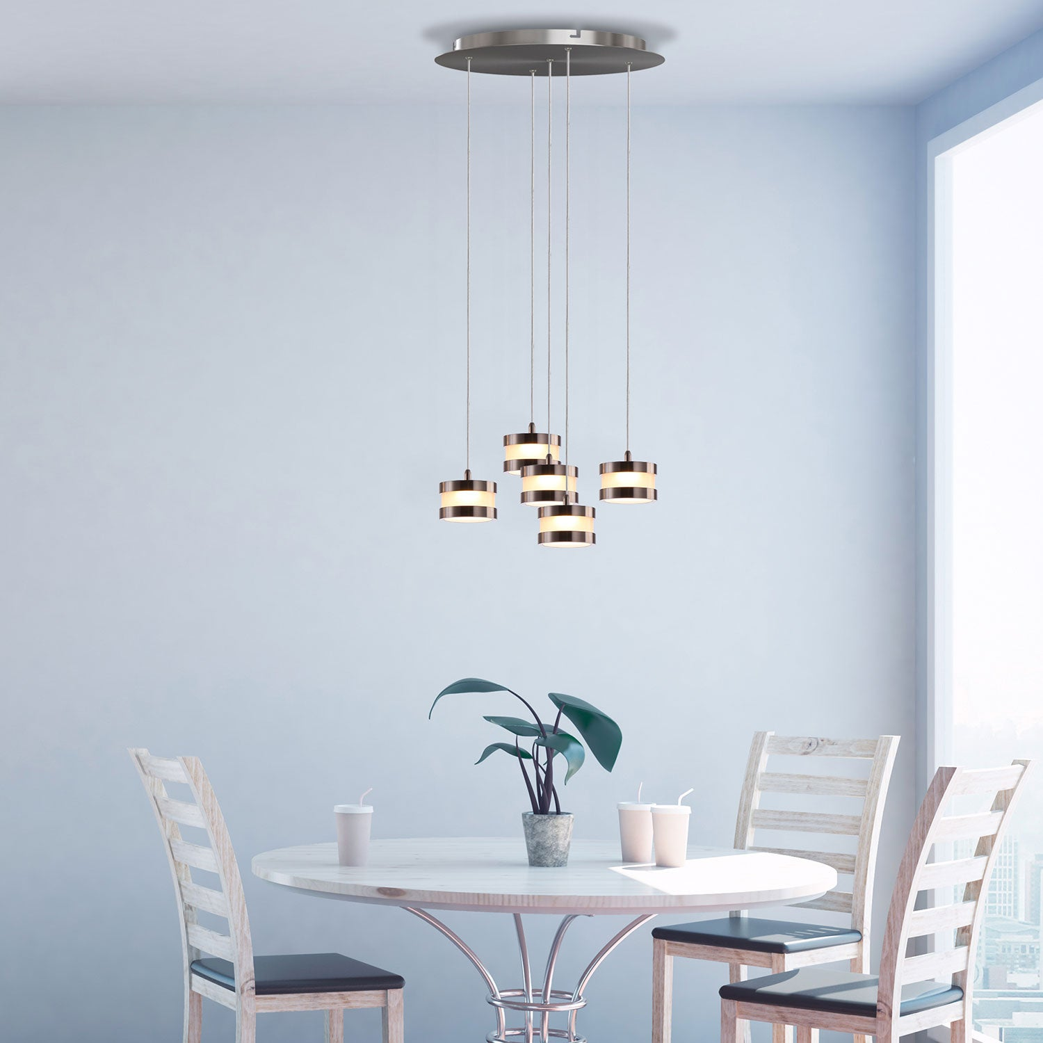 Mercury 5-light LED mini pendant