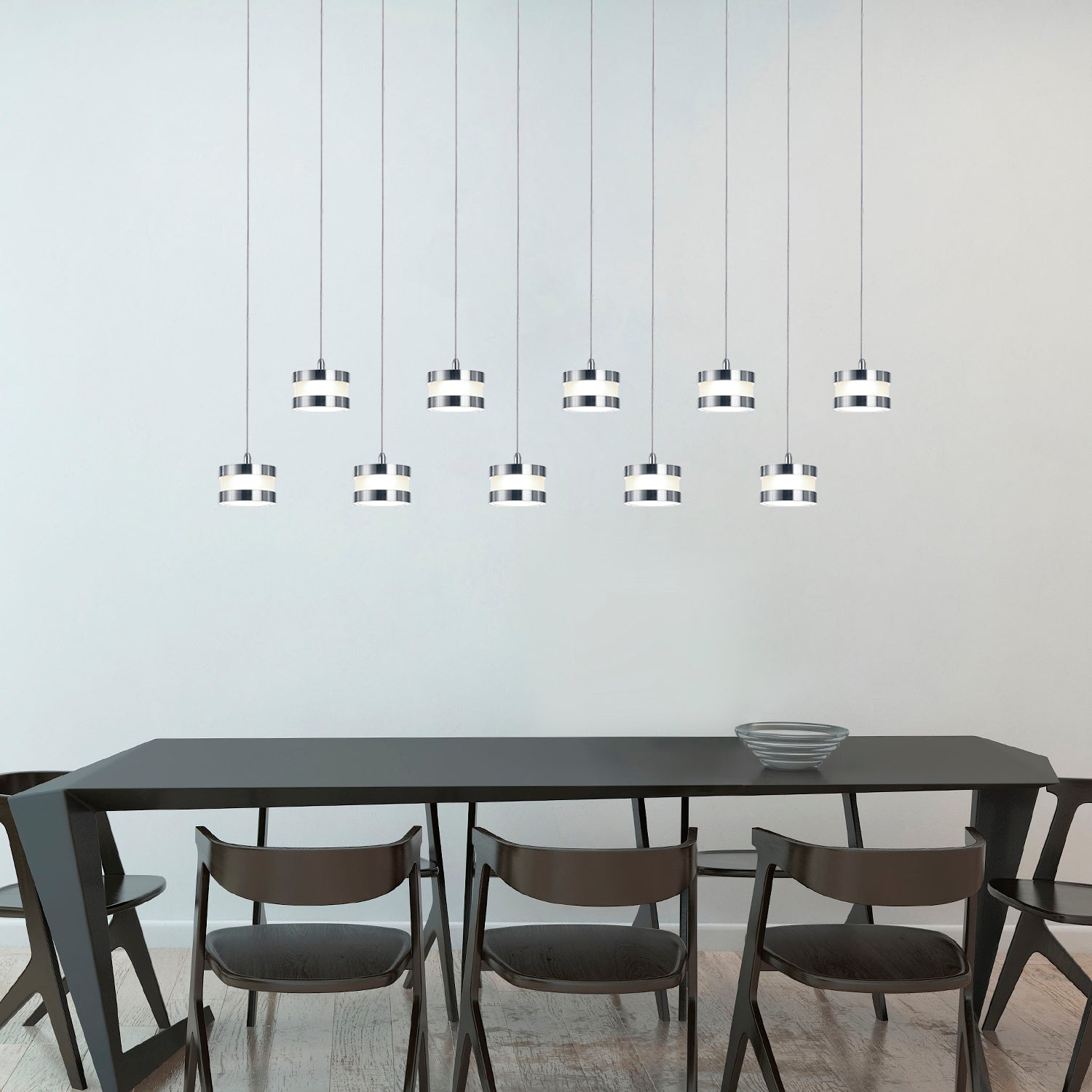 Mercury 10-light LED mini pendant