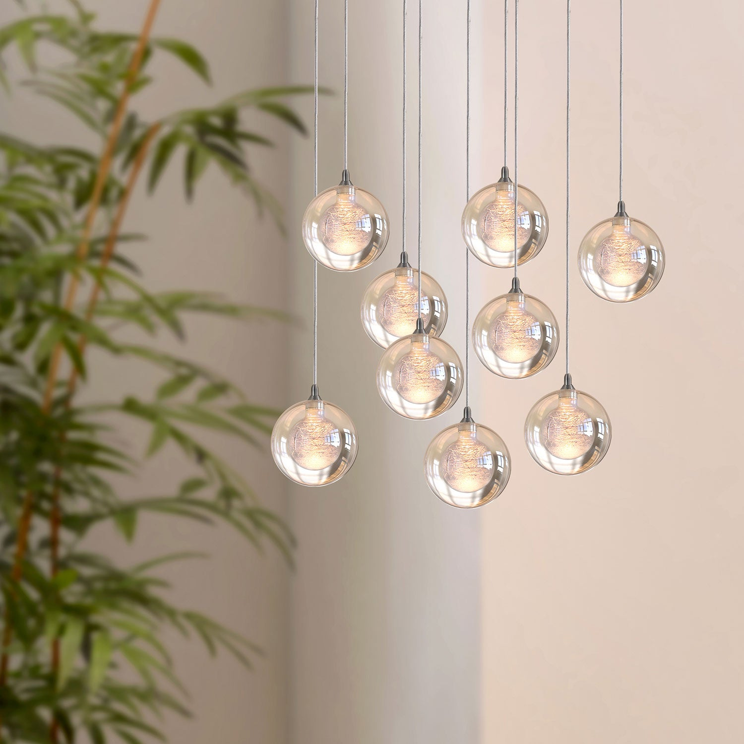 Aura 9-light LED mini pendant
