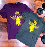 Queen Bee- Gray T-Shirt