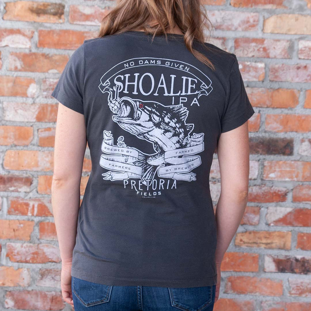 Short Sleeve Grey Shoalie Tshirt - Women's