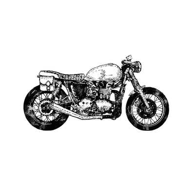 Ride Until You Reach Motorcycle Temporary Tattoo Momentary Ink