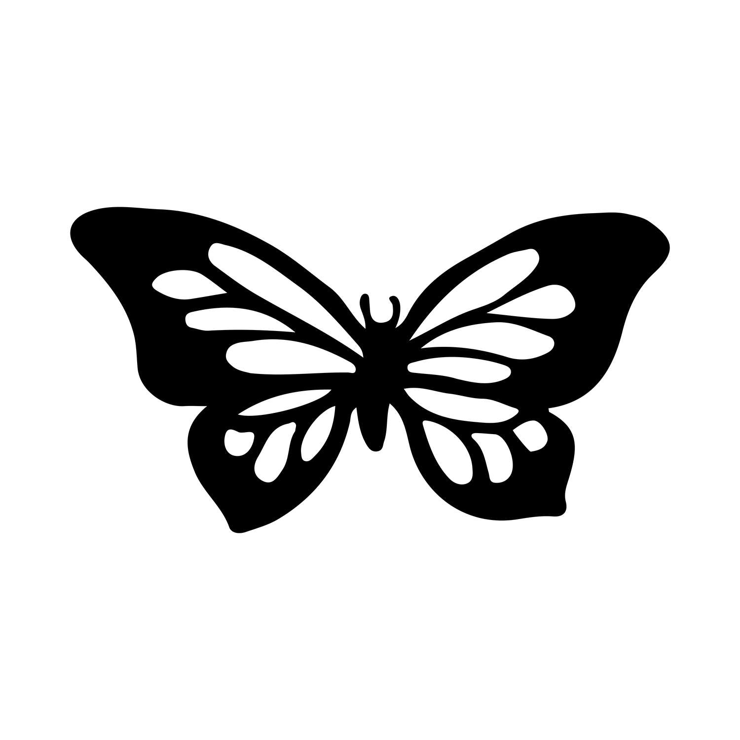 590e477b3 Black Butterfly - Butterfly Temporary Tattoo | Momentary Ink