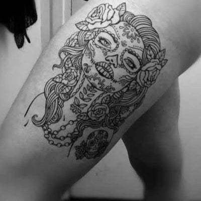 3df20f08a Candy Queen - candy skull Temporary Tattoo | Momentary Ink