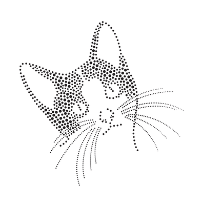 Dotwork Kitty