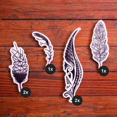 Pretty Fly – Feather Tattoo Collection