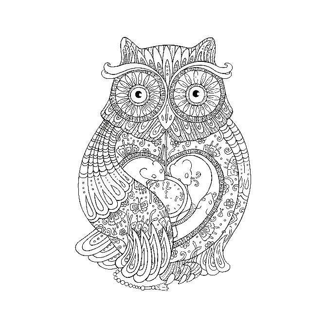 Aztec Owl Owl Temporary Tattoo Momentary Ink