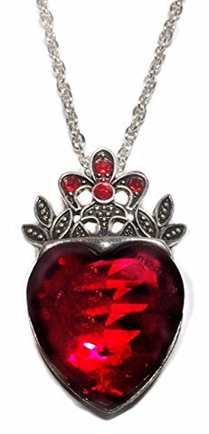 AZ Disney's Princess Evie Red Heart Crown Pendant