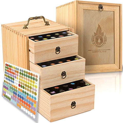 az - Essential Oil Box - Wooden Storage Case