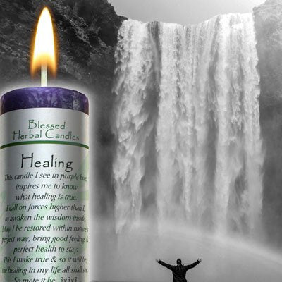 az - Blessed Herbal - Healing Candle